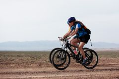 Spring mountain bike marathon Stock Photos