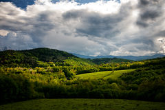 Spring Mountain Fields. stock images