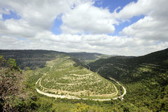 Spring mountain landscape, Israel Royalty Free Stock Photography