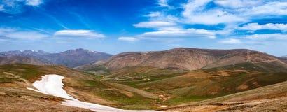 Spring mountain landscape panorama Pontic Mountains Northern Ana Stock Photos
