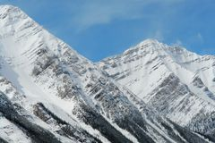 Spring mountain peaks Stock Photos