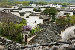 Spring mountain village. China's beautiful spring scenery of the village of jiangxi province Royalty Free Stock Photography
