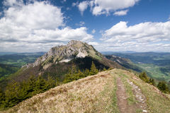 Spring mountains - Big Rozsutec hill, Little Fatra, Slovakia Royalty Free Stock Photography