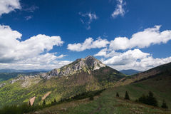 Spring mountains - Big Rozsutec hill, Little Fatra, Slovakia Royalty Free Stock Photos