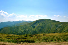 Spring mountains, Goverla in Ukraine. Royalty Free Stock Photo