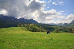 Spring mountains landscape (Crimea, Ukraine) Royalty Free Stock Image