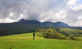 Spring mountains landscape (Crimea, Ukraine) Royalty Free Stock Photos