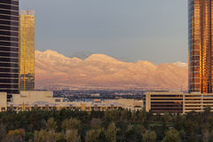 Spring Mountains and Las Vegas Resorts Stock Photography