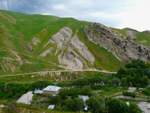 Spring in the mountains. Mountain village near the town of Hissar in Tajikistan Stock Photos