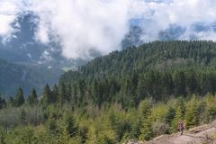 Spring mountains in the northern Black Forest Royalty Free Stock Photos