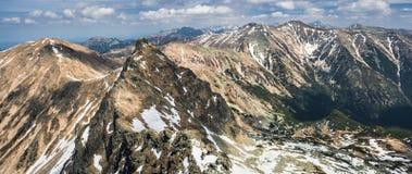 Spring mountains panorama Stock Image