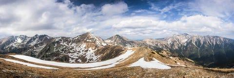 Spring mountains panorama Royalty Free Stock Image