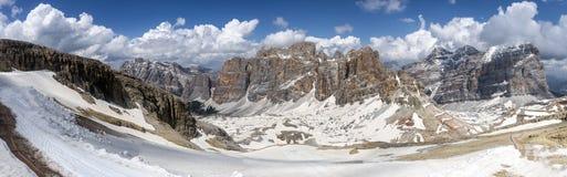Free Spring Mountains Panorama Of Italian Alps. Dolomites Royalty Free Stock Image - 137606886