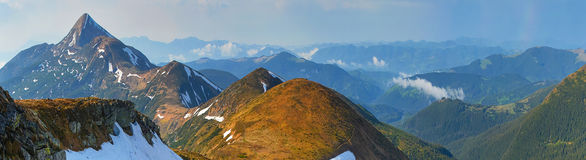 Spring mountains Royalty Free Stock Images