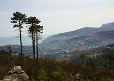 Spring in the mountains view of Yalta Stock Photos