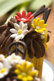 Spring muffins decorated with flower Stock Images