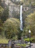 Spring at Multnomah Falls Oregon. Royalty Free Stock Images