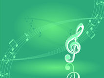 Spring music illustration. Vector. Royalty Free Stock Images
