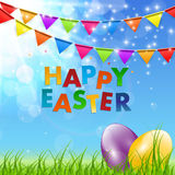 Spring Natural Happy Easter Background Vector Illustration Stock Photo