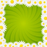 Spring natural twisted vector background frame Stock Photo
