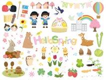 Spring set vector illustration