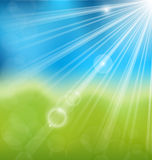 Spring nature background with lens flare Stock Photo