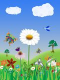 Spring nature illustration Royalty Free Stock Photo