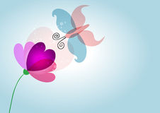 Spring nature love flower butterfly transparent Stock Images