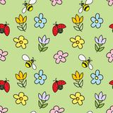 Spring Nature Seamless Pattern Stock Images