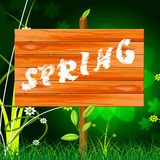 Spring Nature Shows Environment Warm And Warmth Royalty Free Stock Image