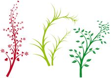 Spring nature, vector Royalty Free Stock Image