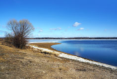 Spring nature, Volga river Royalty Free Stock Image