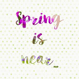 Spring is near concept background stock photo