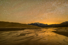 Spring Night at Great Sand Dunes National Park & Preserve Royalty Free Stock Photo