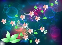Spring in the night Royalty Free Stock Images