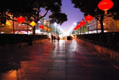 Spring Night in Xi'an Royalty Free Stock Image