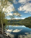 Spring in Norway. Spring landscape with lake in Norway Royalty Free Stock Image