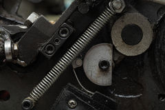 Spring obsolete mechanism fragment Stock Photos