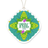 Spring offer colored tag Royalty Free Stock Photo