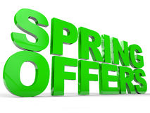 Spring Offer Stock Photography