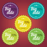 Spring offer stickers. Big sale Royalty Free Stock Photos