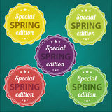 Spring offer stickers. Special edition Royalty Free Stock Images