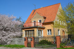 Spring. Old house in Kaliningrad Stock Image