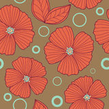 Spring old style floral seamless pattern stock illustration