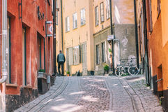 Spring in the Old Town of Stockholm Royalty Free Stock Photography