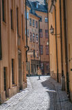 Spring in the Old Town of Stockholm Royalty Free Stock Photo