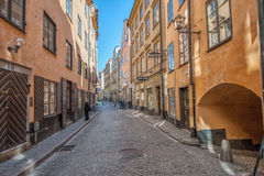 Spring in the Old Town of Stockholm Royalty Free Stock Images