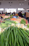 Spring onion for sale in a farmer`s market. Picture of a spring onion for sale in a farmer`s market Royalty Free Stock Photo