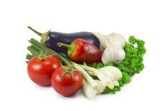Spring onion, tomato, garlic Royalty Free Stock Photos