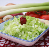 Spring onions Royalty Free Stock Photo
